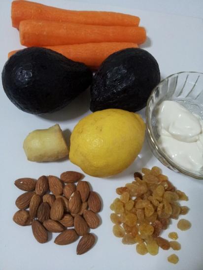 Avocado and Carrot salad1