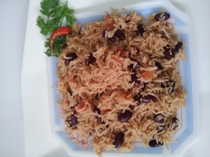 Red Bean Pulao step10
