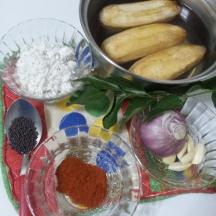 Raw Banana Bhaji step1
