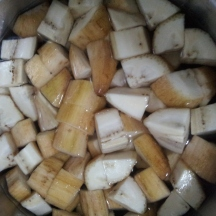 Raw Banana Bhaji step3