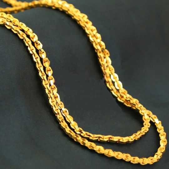 ythy._men-and-women-long-gold-plated-chain-22-inches