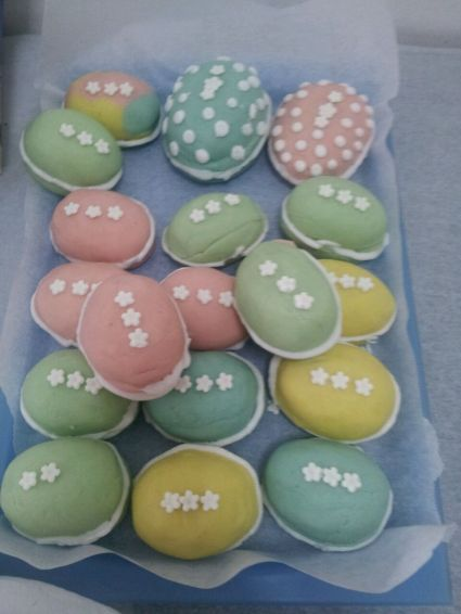 Easter Marzipan eggs